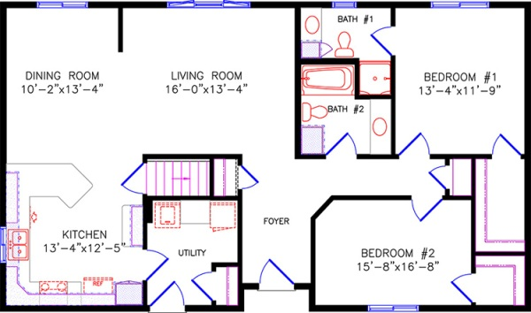 28 X 40 Double Wide Mobile Home Open Floor Plans 28 Free