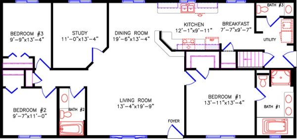 Green acres new homes for Floor plans 2100 sq ft