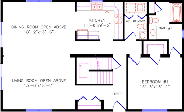 Ranch house plans with loft