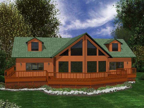 4750 loft green acres new homes for Chalet house plans with loft
